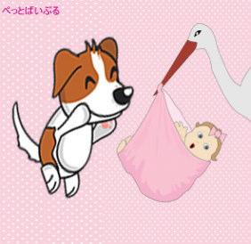 赤ちゃんと犬画像1