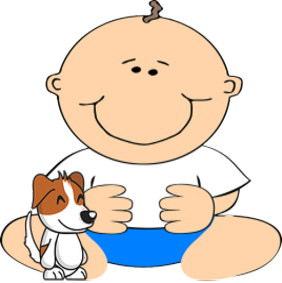 赤ちゃんと犬画像3