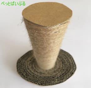 爪研ぎタワー作り方5